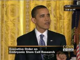 Obama Stem Cell Research Executive Order Signing